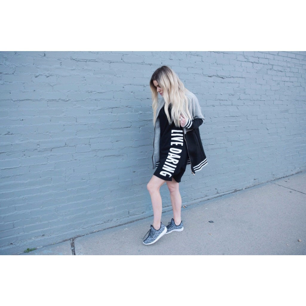 Sporty T-Shirt Dress | Live Daring| SIGNED NOELLE | - DARING Collection by Noelle Nieporte  - 7