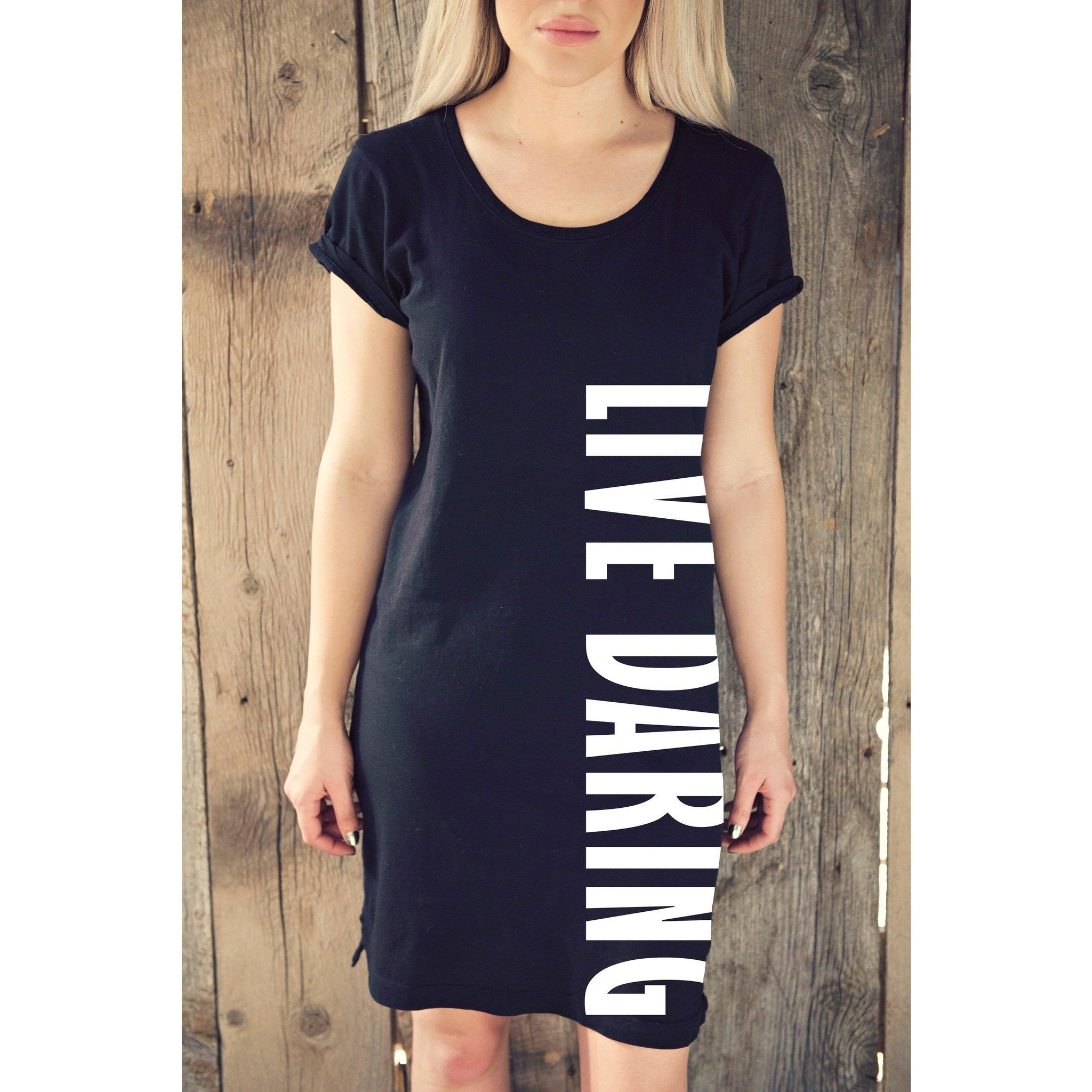 Sporty T-Shirt Dress | Live Daring| SIGNED NOELLE | - DARING Collection by Noelle Nieporte  - 8