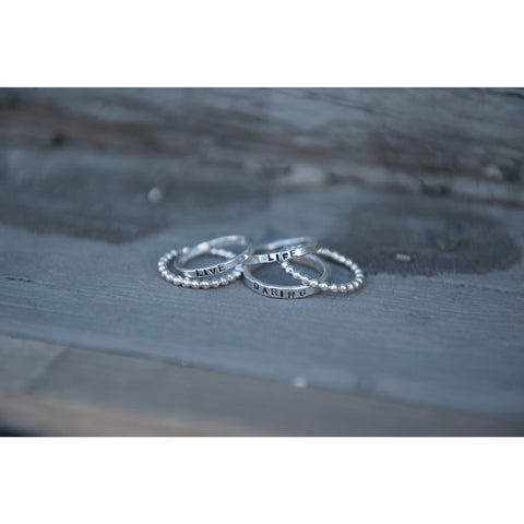 Stackable Rings | Live Life Daring | by SIGNED NOELLE - DARING Collection by Noelle Nieporte  - 2