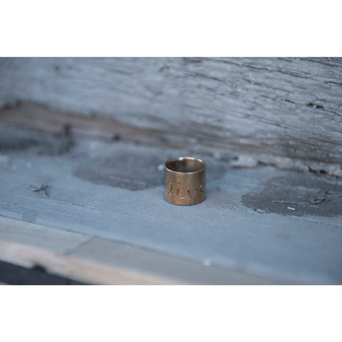LIVE | Wide Band Ring | SIGNED NOELLE | - DARING Collection by Noelle Nieporte  - 1