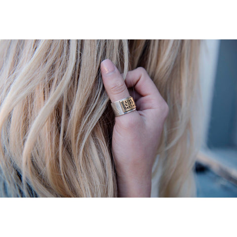 Live Life Daring Ring by SIGNED NOELLE - DARING Collection by Noelle Nieporte  - 2