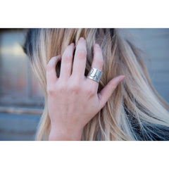 LIVE | Wide Band Ring | SIGNED NOELLE | - DARING Collection by Noelle Nieporte  - 4
