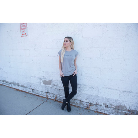 Flowy Daring Soul Tee with Rolled Cuffs | SIGNED NOELLE | - DARING Collection by Noelle Nieporte  - 2