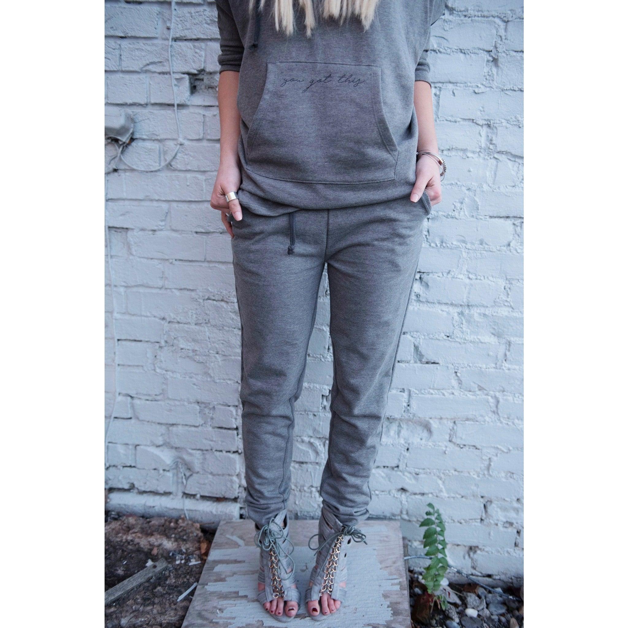 Vintage Sport Fitted Sweat Pants | Be Daring | by SIGNED NOELLE - DARING Collection by Noelle Nieporte  - 4