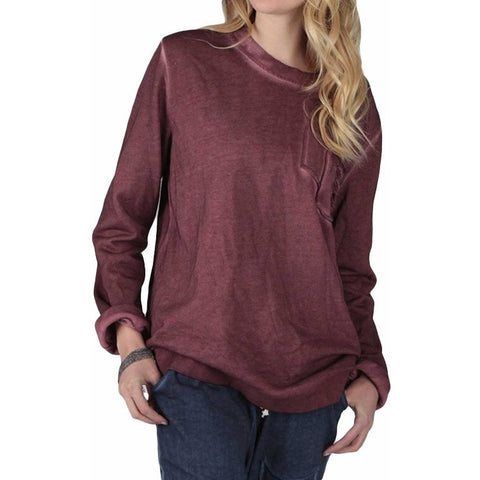 Long-sleeve Sweatshirt with Distressed Pocket | Signed Noelle | - DARING Collection by Noelle Nieporte