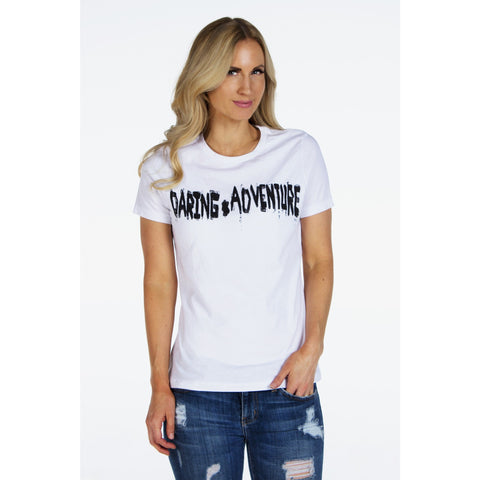 Distressed Rock & Roll TEE | DARING ADVENTURE | Signed Noelle - DARING Collection by Noelle Nieporte  - 1