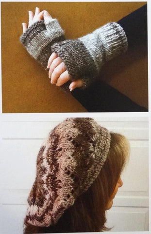 Katia Pattern Leaflet: Slouch Hat & Fingerless Gloves