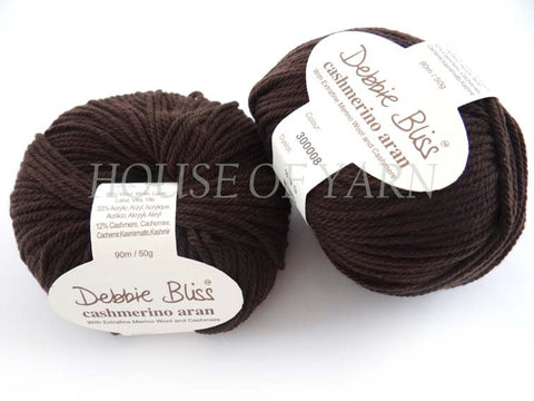 Debbie Bliss Cashmerino Aran 08 Chocolate