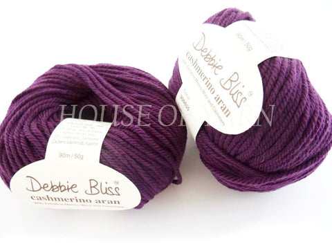 Debbie Bliss Cashmerino Aran 55 Blackberry
