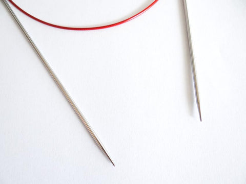 2.50mm 80cm Red Lace Circular Needle