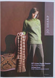 Jo Sharp Leaflet 07 - Unisex Raglan Sweater & Striped Scarf