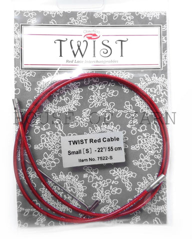 "Small 55cm (22"") ChiaoGoo Twist Red Lace Cable"