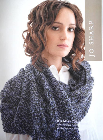 Jo Sharp Leaflet 34 - Moss Cable Scarf