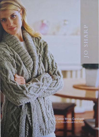 Jo Sharp Leaflet 20 - Cable Wrap Cardigan & Hat