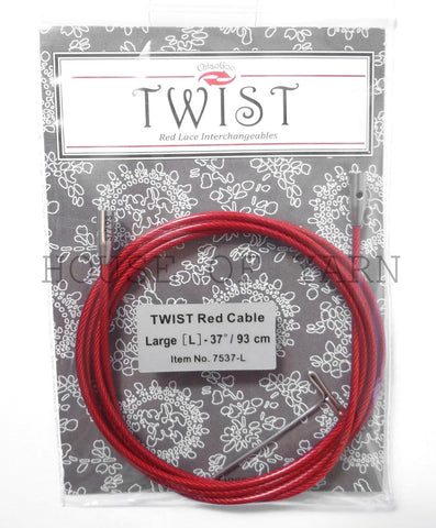 "Large 93cm (37"") ChiaoGoo Twist Red Lace Cable"
