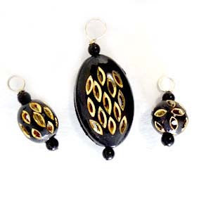 Black Gold Stitch Marker