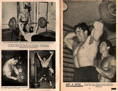 1951 Reg Park Training