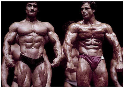 1981 Mr Olympia - Danny Padilla and Franco Columbu