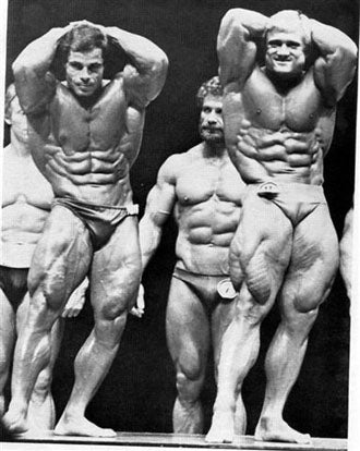 Franco Columbu and Tom Platz - 1981 Mr Olympia