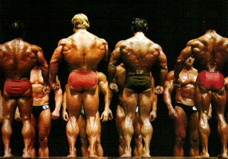 1981 Mr Olympia Lineup - Chris Dickerson far right