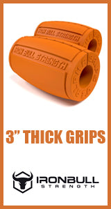 Ironbull Strength 3.0 Alpha Grips - Thick Bar Training for Big Arms