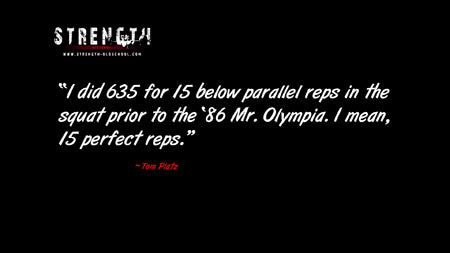 635 Squat for 15 Reps - Tom Platz