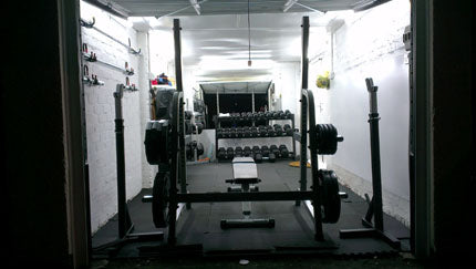 After some more renovating - Garage Gym Looking Better