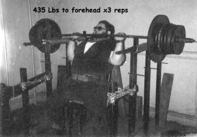Anthony Ditillo - 435 lbs for 3 Reps - Seated Press to Forehead