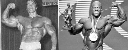Arnold - 1971 Mr Olympia Vs Phil Heath - 2012 Mr Olympia