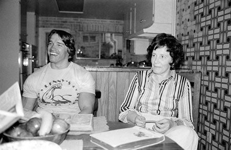 Arnold Schwarzenegger and his Mother Aurelia