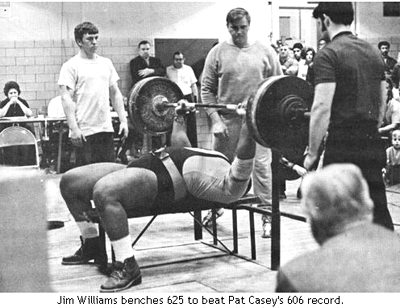 Big Jim Williams Bench Presses Raw 625 lbs