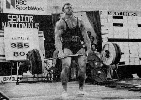 Bill Kazmaier Deadlifting
