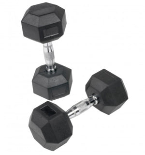 Body Power - 1kg to 30kg Rubber Hex Dumbbell Set