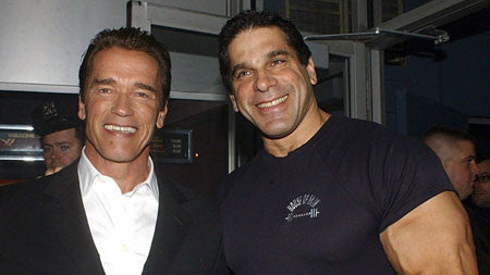 Bodybuilding Legends Arnold Schwarzenegger and Lou Ferrigno