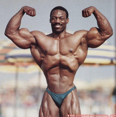 Tiny Waist of Bodybuilder Brian Buchanan