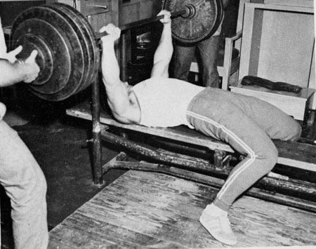 Chuck Sipes Bench Pressing