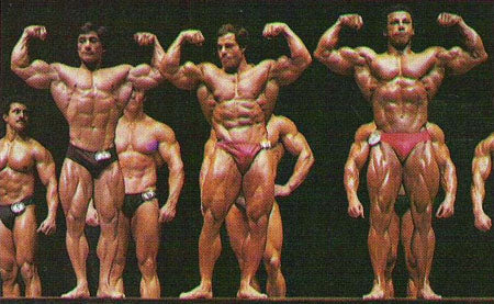 Danny Padilla - Franco Columbu and Chris Dickerson at 1981 Mr Olympia