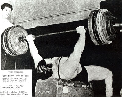 Doug Hepburn Bench Press