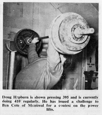 Doug Hepburn Pressing 395 Pounds