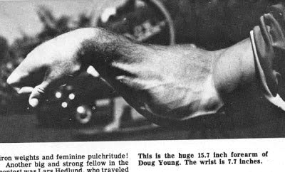 Powerlifting Legend Doug Young Forearm Development