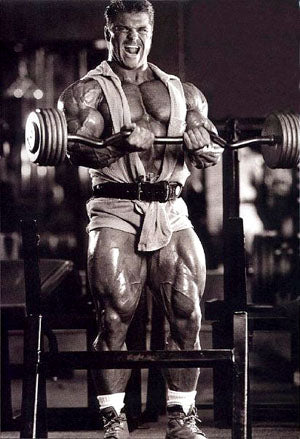 Bodybuilder Eddie Robinson Training Arms