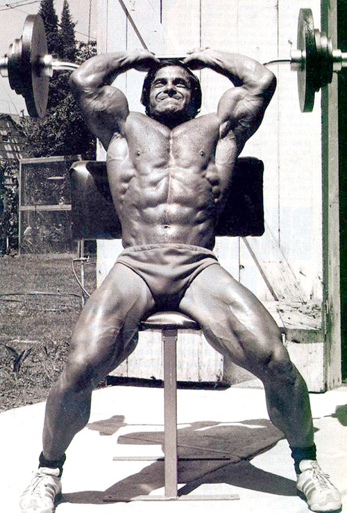 Franco Columbu Training Triceps - RIP