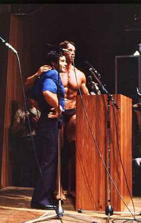 Franco Columbu and Arnold - 1980 Mr Olympia