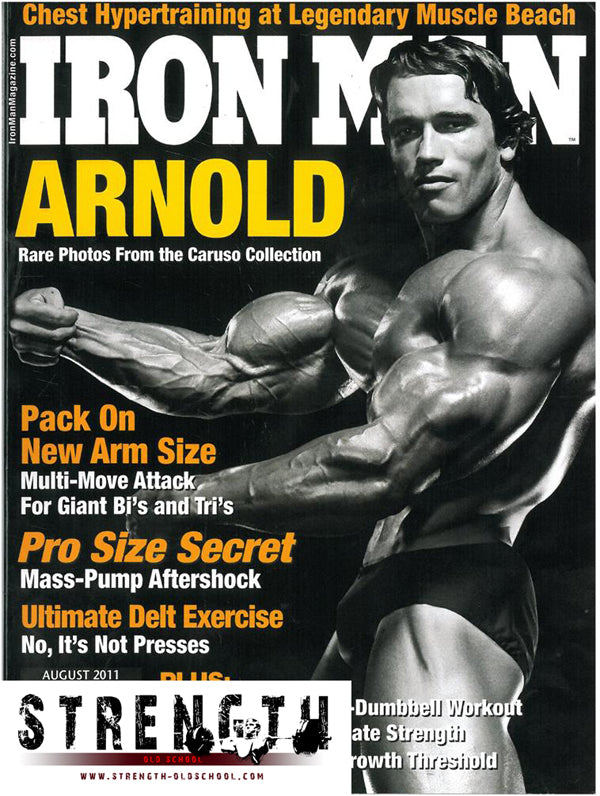 Arnold Schwarzenegger on the Cover of Iron Man Magazine