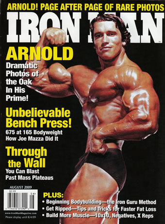 Ironman Magazine - Arnold on Cover