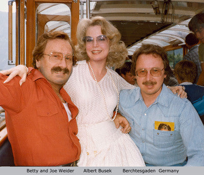 Joe and Betty Weider and Albert Busek