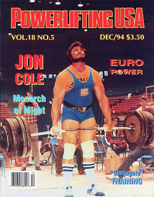 Jon Cole - Powerlifting USA