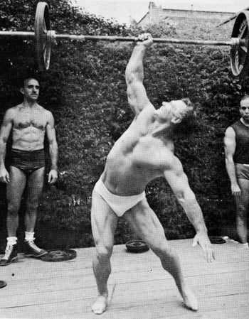 John Grimek - One Arm Barbell Press