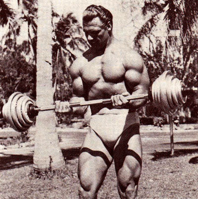John Grimek Training Biceps