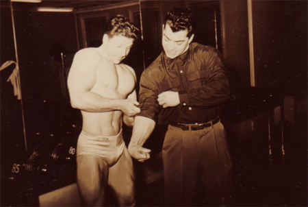 Bodybuilding and Strength Legend Marvin Eder Flexing Forearm